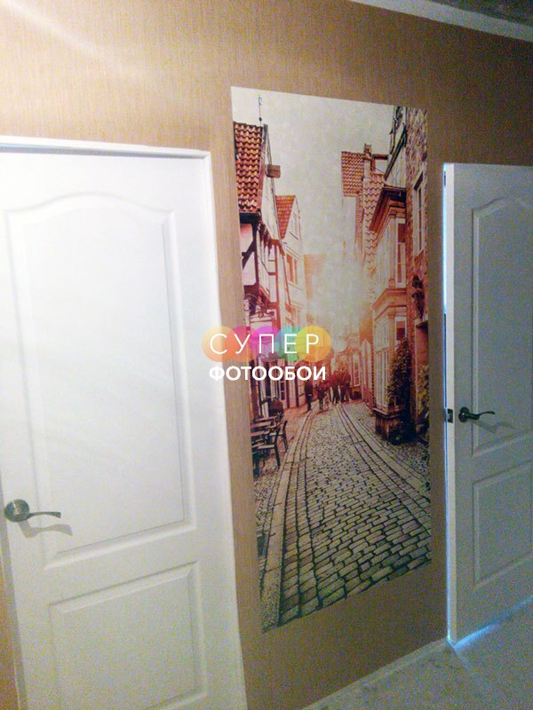 """Фотообои для коридора. Фактура """"Песок мелкий"""" , ширина полотен 1м."""