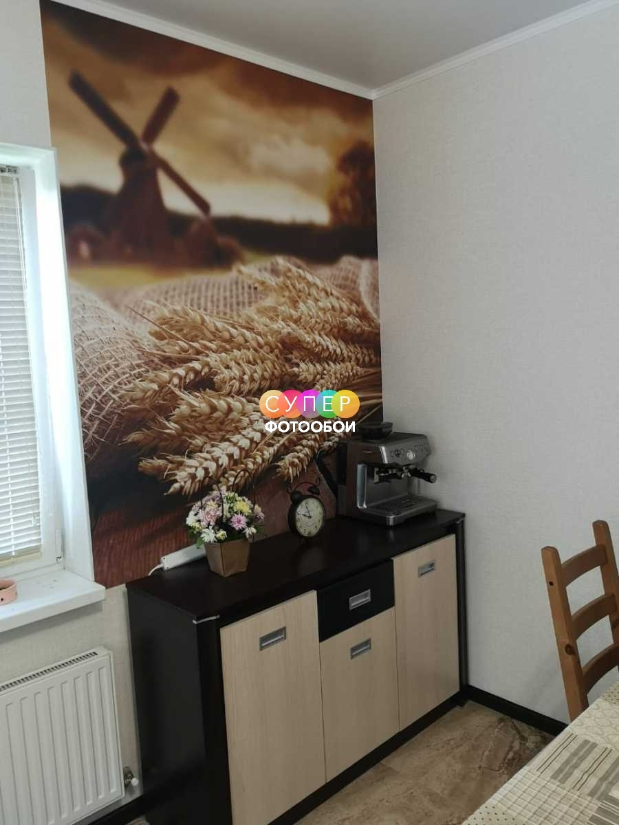 Фотообои для кухни, материал Фетр, единым полотном.